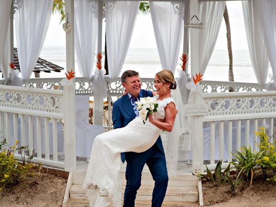 Just married at Rendezvous, St Lucia