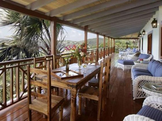 Relax on the airy veranda