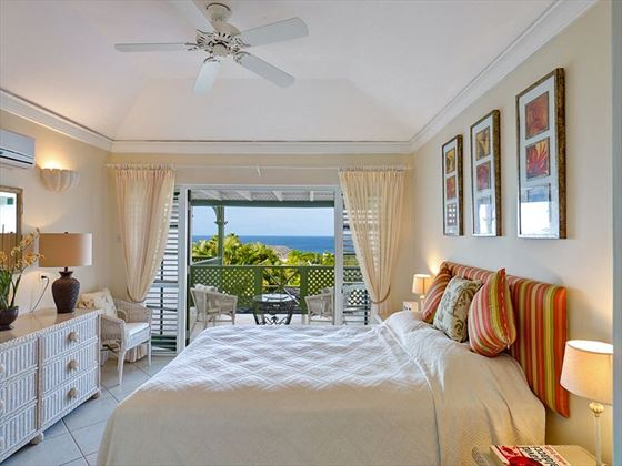 Caribbean views from the bedroom