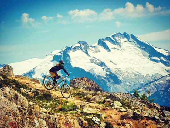Riding the Top of the World Trail in Whistler