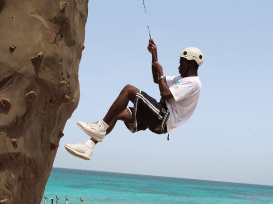 Rock climbing activities at Divi Village Golf & Beach Resort