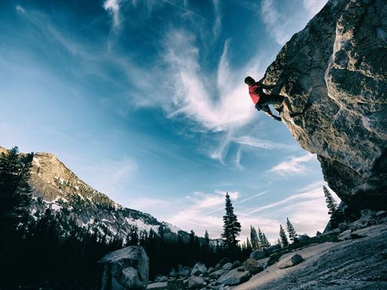 Rock climbing in Yosemite National Park, California