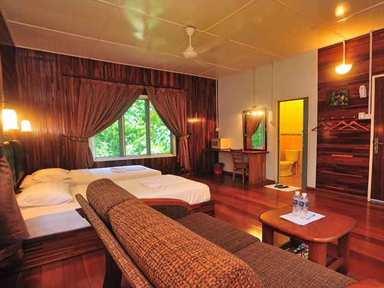 Room at Abai Jungle Lodge, Borneo