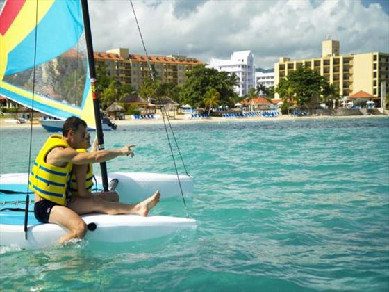 Sailing activities at The Jewel Dunn's River Resort