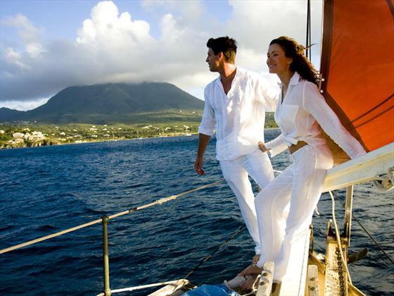 Approaching Nevis by Sea