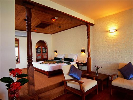 Saman Villas bedroom and lounge area