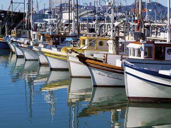 San Francisco boats at Fisherman's Wharf