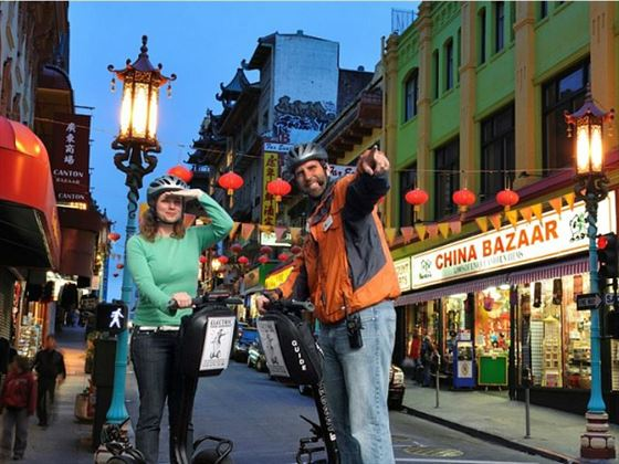 Segway tour through San Francisco's China Town