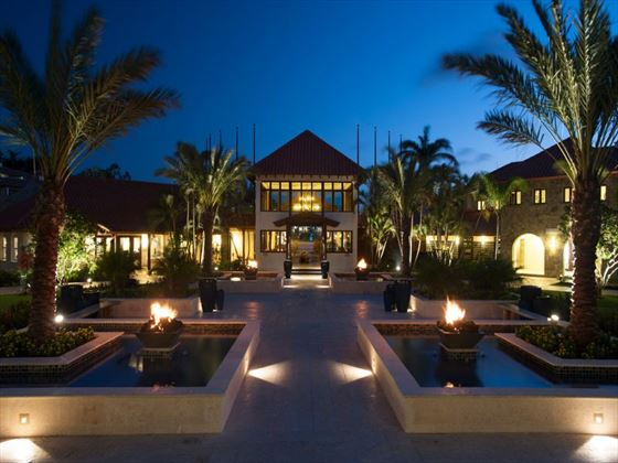 Sandals LaSource Grenada courtyard at night