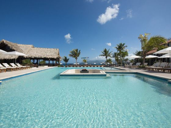 Main pool at Sandals LaSource Grenada
