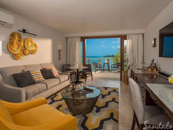 Sandals Negril Beach Resort & Spa, Honeymoon Beachfront Two Storey One Bedroom Butler Villa Suite