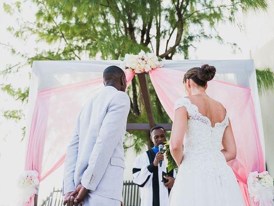 Wedding ceremony at Sea Breeze