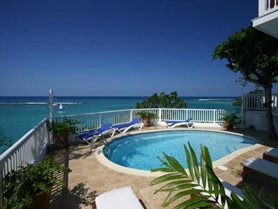 Enjoy the Caribbean view from the private pool