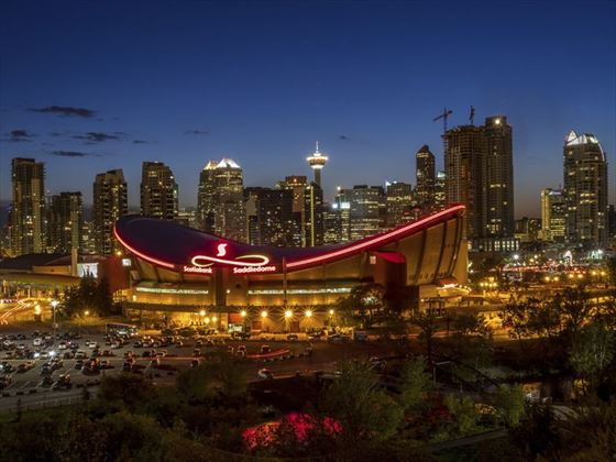 The Scotiabank Saddledome, home to the NHL's Calgary Flames