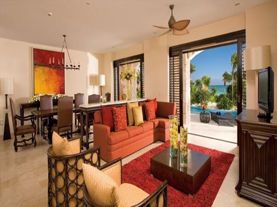 Secrets Maroma Beach Riviera Cancun living room