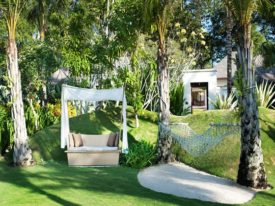 Serene secret garden at The Laguna Resort & Spa Hotel