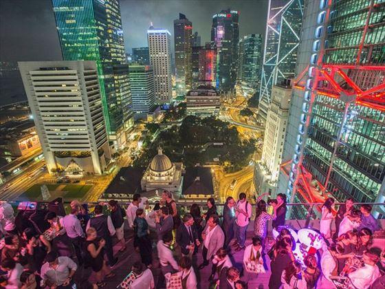 SEVVA rooftop bar, Hong Kong