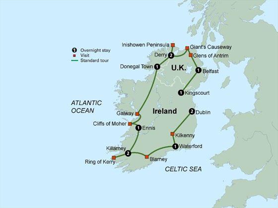 Shades of Ireland featuring Northern Ireland itinerary