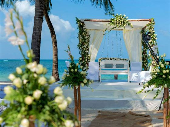 Wedding setting at Diamonds Mapenzi Beach