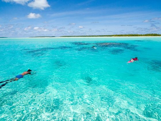 Snorkelling at Aitutaki