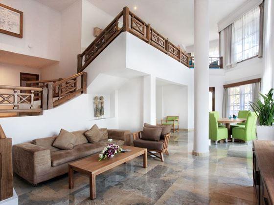 Suite living room at Sol Beach House Melia Benoa