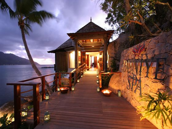 Spa entrance to Hilton Seychelles Northolme Resort & Spa