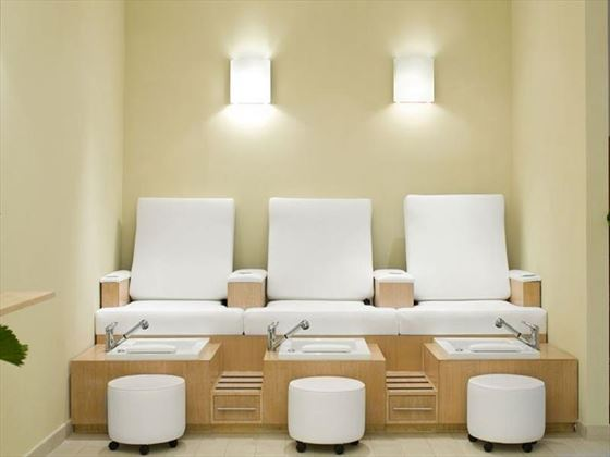 Spa pedicure station at Hilton Rose Hall Resort & Spa Hotel