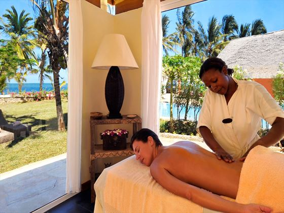 Spa treatment at Diamonds Dream of Africa