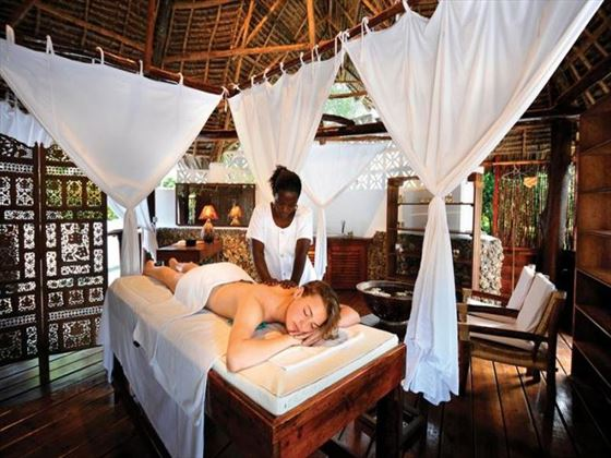 Spa treatment at Sandies Mapenzi Beach Club