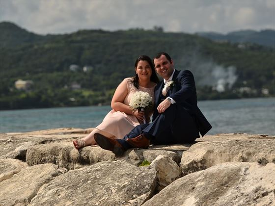 Bride & Groom at Secrets St James Montego Bay