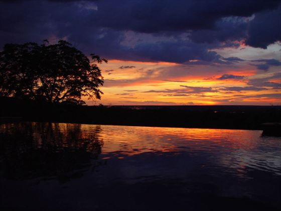 Stanley Safari Lodge sunset