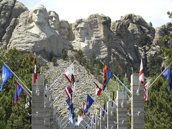 State flags at Mount Rushmore