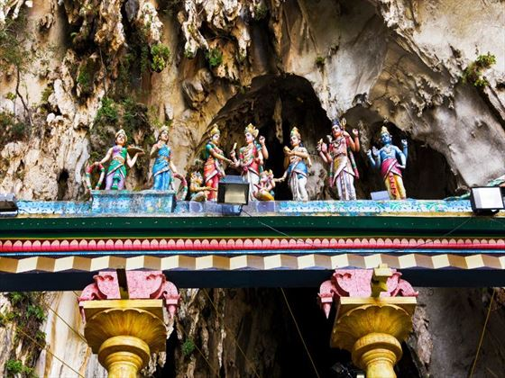 Statues in the Batu Caves