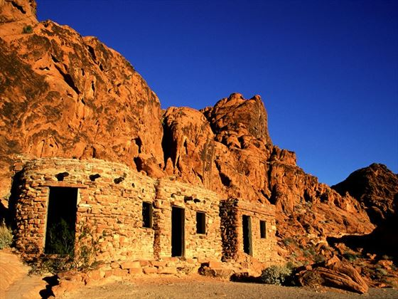 Stone cabins in the Valley of Fire, Nevada