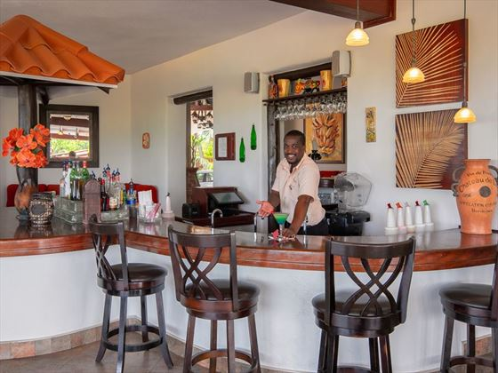 The bar at Sugar Cane Club Resort & Spa