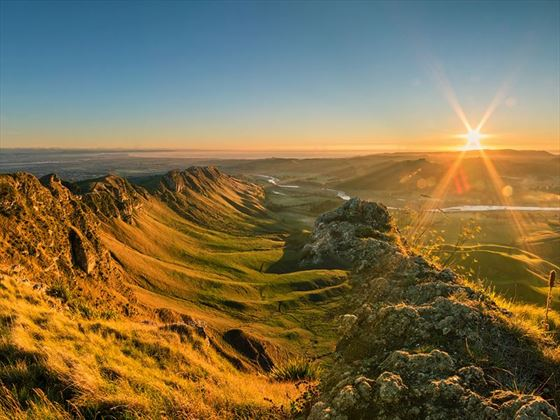 Sunrise over Te Mata Peak, Napier