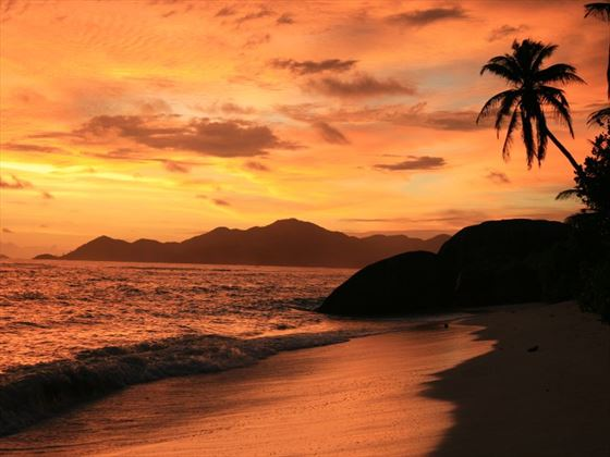 Sunset in La Digue