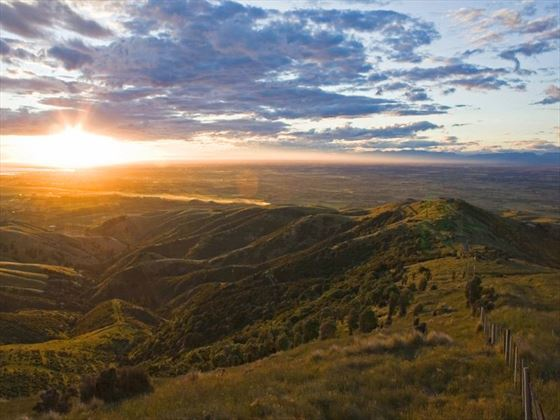 Sunset over the Canterbury Plains