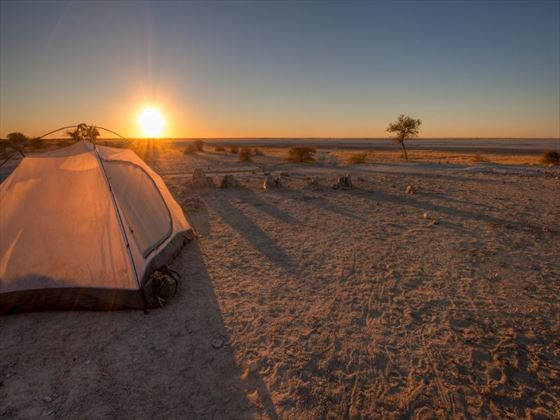 Sunset over the Makgadikgadi Pans