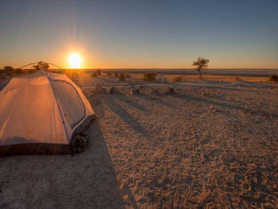 Sunset over the Makgadikgadi Pans