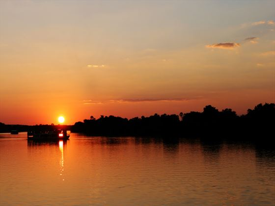 Sunset over the Zambezi River