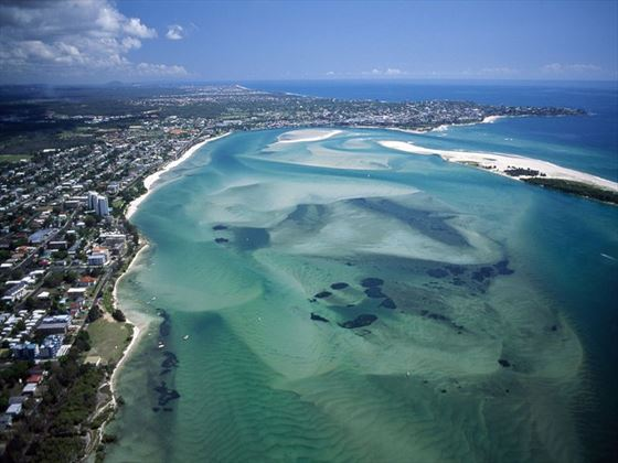 Aerial view of the Sunshine Coast