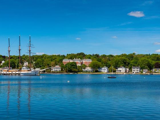 Tall sailship in Mystic, Connecticut
