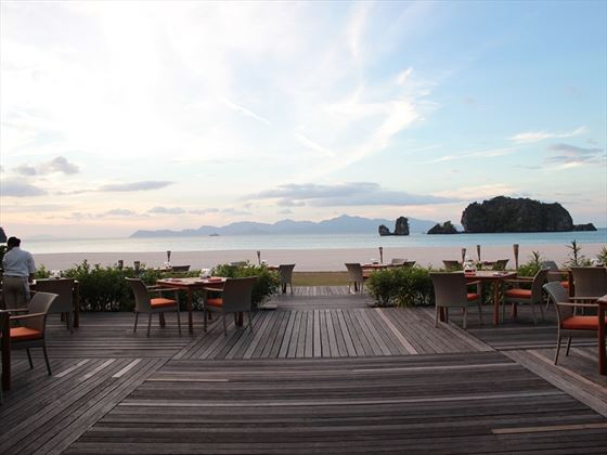 Tanjung Rhu outdoor decking area