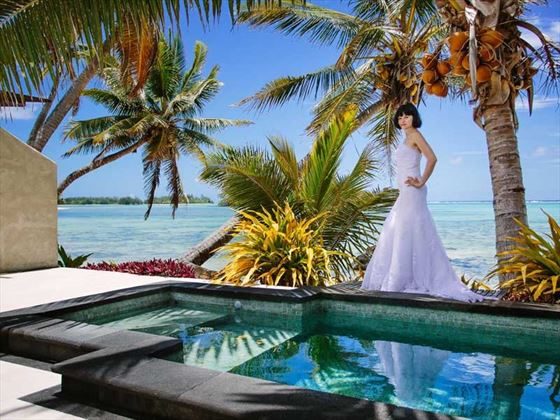 Bride at the Te Manava Luxury Villas & Spa
