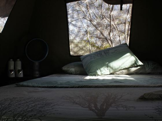 Bedroom in Mobile Canvas Tent