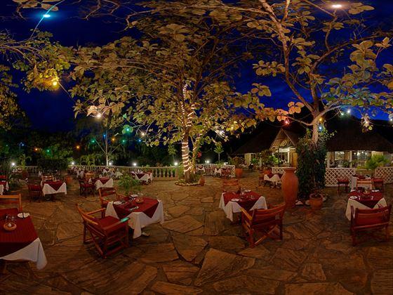 Terrace at the Baobab restaurant at Papillon Lagoon Reef