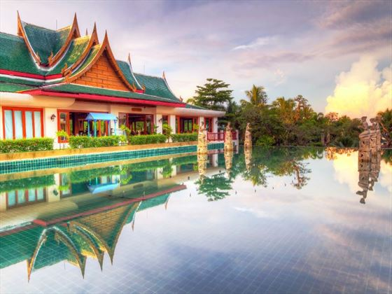 Thai architecture at sunrise