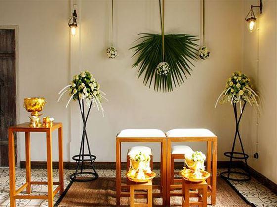 Traditional Thai wedding setting
