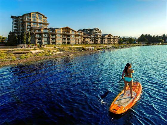 Paddle boarding near The Beach Club Resort